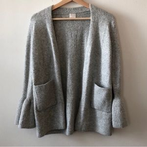 Light gray A New Day Bell Sleeve Cardigan